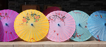 Chinese parasols Royalty Free Stock Photos
