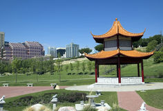 Chinese park. In the Saskatchewan River Valley in Edmonton Alberta Stock Photography