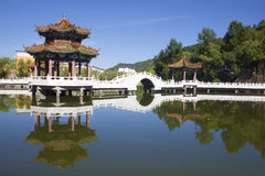 Chinese park in summer Royalty Free Stock Photos