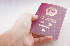 Chinese Passport Stock Images