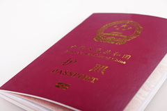 Chinese Passport Stock Image