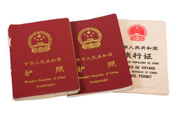 Chinese Passports Stock Image