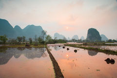 Chinese pastoral scenery Royalty Free Stock Image