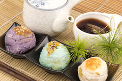 Chinese Pastry and chinese tea , candy dishes of China. Chinese Pastry and chinese tea, candy dishes of China, a mixture of grains that are healthy and Royalty Free Stock Image