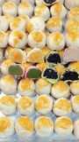 Chinese pastry with egg yolk bakery dessert. Chinese bakery is chinese pastry with egg yolk slight sweet dessert Royalty Free Stock Images
