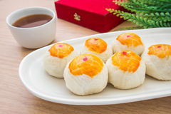 Chinese pastry or moon cake, Chinese festival dessert Royalty Free Stock Photo