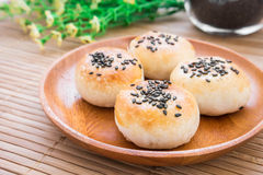 Chinese pastry or moon cake, Chinese festival dessert Royalty Free Stock Images