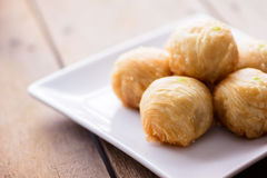 Chinese Pastry or Moon cake, dessert for Chinese Stock Images