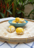 Chinese pastry with salted egg yolk Royalty Free Stock Photo