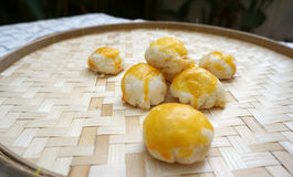 Chinese pastry with salted egg yolk Stock Photo