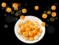 Chinese Pastry small computer graphic design Royalty Free Stock Image