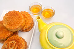 Chinese pastry and tea Royalty Free Stock Image