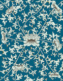 Chinese pattern on blue background Stock Image