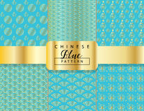 Chinese ornamental pattern set Royalty Free Stock Images