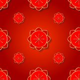 Chinese pattern. Gold symbols on a red background. vector illustration