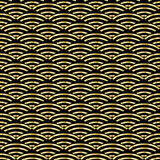 Chinese pattern. Chinese luxury pattern. Chinese ornamental background. Gold abstract symbols on black background. Asian traditional ornament. Festive Vector Royalty Free Stock Photos