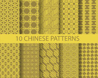 Chinese pattern set Royalty Free Stock Image