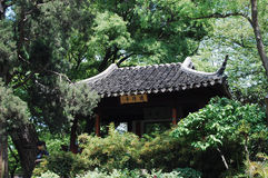 Chinese pavilion. Is beset with trees Stock Photo
