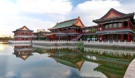Chinese pavilion stock photos