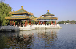 Chinese Pavilion And Park Stock Photography