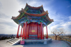 Chinese pavilion in the beijing park (HRD) Royalty Free Stock Photo