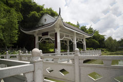 Chinese pavilion and bridge Royalty Free Stock Image