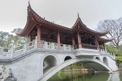 Chinese pavilion bridge Stock Photography