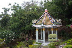 Chinese pavilion. Chainese pavilion in the tropical garden of thailand Stock Photography