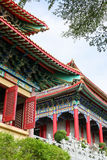 Chinese pavilion in chinese temple and trees framed Royalty Free Stock Image