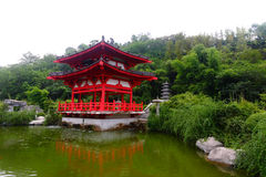Chinese Pavilion. The classical chinese Pavilion in the lakeside royalty free stock photo