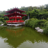 Chinese Pavilion. The classical chinese Pavilion in the lakeside royalty free stock photos