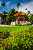 The Chinese Pavilion, in downtown Riverside  Royalty Free Stock Photography