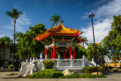 The Chinese Pavilion, in downtown Riverside  Stock Images