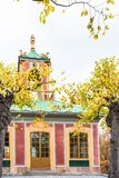 Chinese pavilion in Drottningholm Palace on a sunny summer day Royalty Free Stock Image