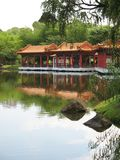 Chinese Pavilion Found at Sing. Apore Chinese Garden set against a lake Stock Images