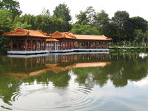 Chinese Pavilion Found at Sing. Apore Chinese Garden set against a lake Royalty Free Stock Photos
