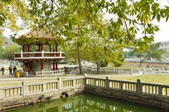 Chinese pavilion in garden Stock Image