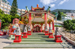 Chinese pavilion in Kwan Yin Temple on Repulse Bay in Hong Kong Stock Image