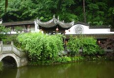 Chinese pavilion and lake Royalty Free Stock Photos