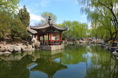 Chinese pavilion at beijing royalty free stock images