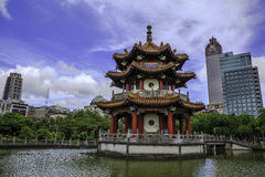Chinese pavilion in Memorial Park, Taiwan Stock Images