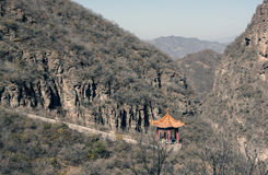 Chinese pavilion in the mountain Stock Photography