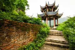Chinese pavilion in nature Royalty Free Stock Photos