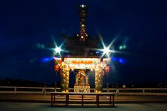 Chinese pavilion at niight Royalty Free Stock Images