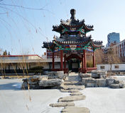 Chinese pavilion in  park. Beautiful Chinese pavilion in park Stock Image