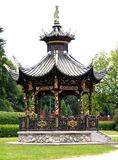 Chinese pavilion in park. A beautiful chinese pavilion in a park near Brussels Royalty Free Stock Images