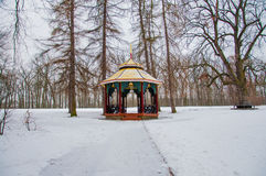 Chinese pavilion in park. Stock Images