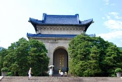 Chinese pavilion, part of mausoleum  of Dr. Sun Yat Sen. Chinese pavilion - part of the memorial complex of Sun Yat Sen, founder of the first Chinese Republic Royalty Free Stock Images