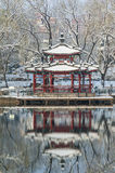 Chinese pavilion in snow Stock Photography