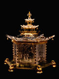 Chinese pavilion by steuben glass inc. Royalty Free Stock Images
